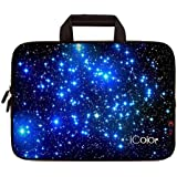 """iColor Blue Starry Night 10"""" 10.2 Inch Laptop Carrying Bag Neoprene Travel Briefcase Portable Chromebook Ultrabook Sleeve Case with Handle Fits 9.7"""" 10.1"""" Dell Google Acer HP Lenovo Asus (IHB10-03)"""