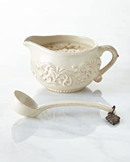 Mariposa Pearled Gravy Boat Set Dining Entertaining Gravy Boats Stands