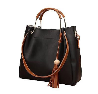c7992eb032 Amazon.com  Promini Women 2 Pieces Shoulder Bags Leather Set Bucket Bags  Messenger Tote Bags Purse  Shoes