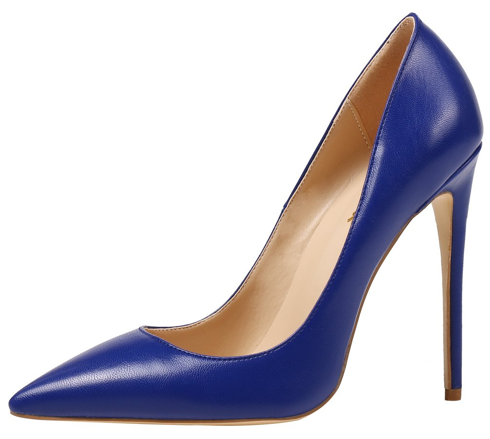 AOOAR AP09N - Zapatos de Vestir de Sintético para Mujer 38 EU|Blau/Pu