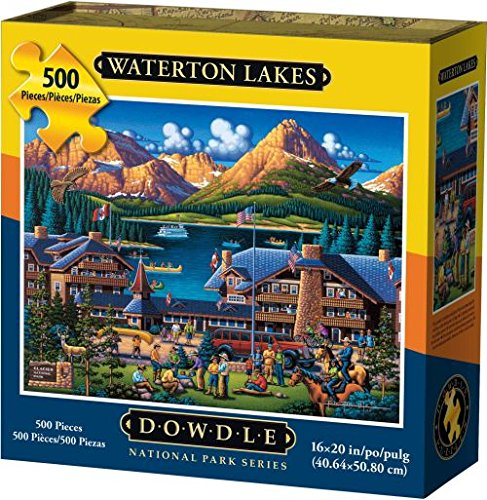 (Dowdle Folk Art Jigsaw Puzzle - Waterton Lakes - 500 Pieces )