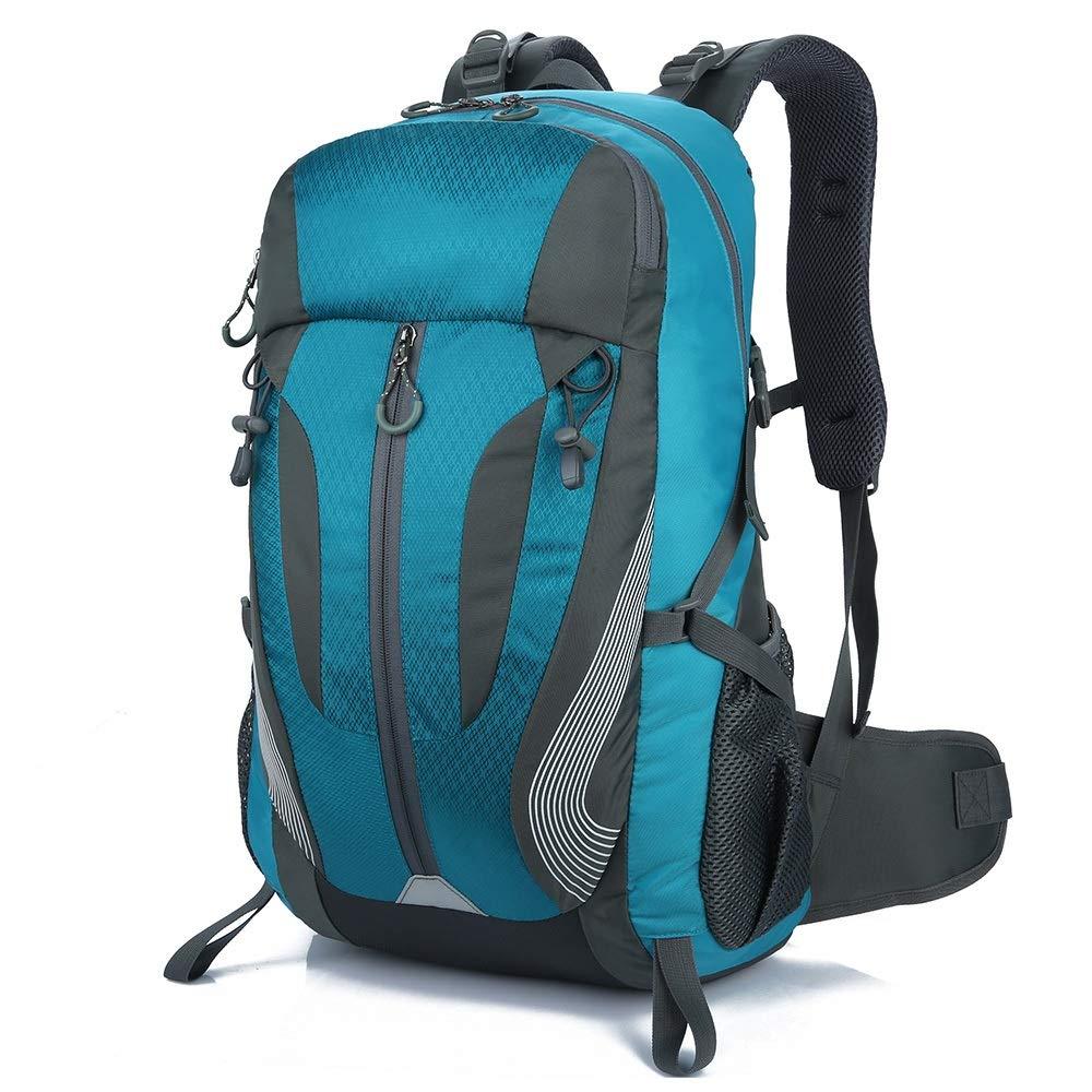 YI-WAN Lightening Burden Outdoor Sporttasche Bergsteigen Rucksack Farbe Atmungsaktiv Kratzfest und Wasserdicht (Farbe   Lake Blau)