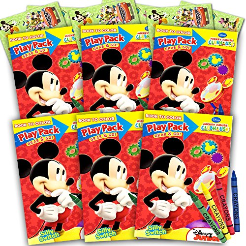 Outlet Mickey Mouse Ultimate Party Favors Packs 6 Sets With Stickers Coloring Books