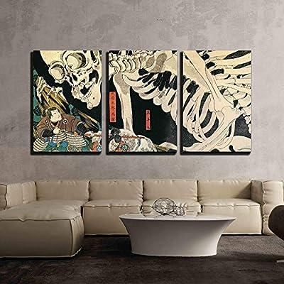 Created Just For You, Lovely Expertise, Utagawa Kuniyoshi Takiyasha The Witch and The Skeleton Spectre Ukiyo E x3 Panels