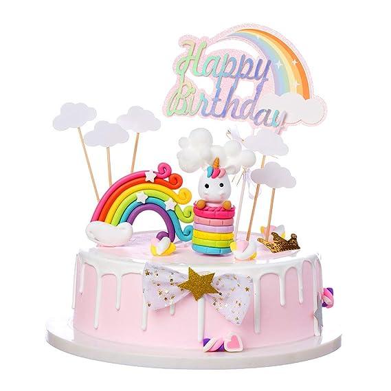 Pañuelos para tartas, diseño de unicornio rosa, coloridos ...