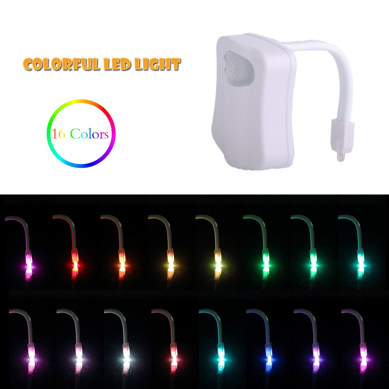 muti-colorトイレライトモーションセンサーLEDナイトライトボウルライトfor公衆トイレバスルーム水クローゼット防水ライト検出at Night [バッテリーは含まれていません] B07BZF1XQD