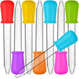 8 Pcs Liquid Droppers, SENHAI Silicone and Plastic Pipettes Transfer Eyedropper with Bulb Tip for Candy Oil Kitchen Kids…