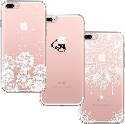 3 Pack] Funda iPhone 7 Plus,Funda iPhone 8 Plus,Funda de Silicona ...