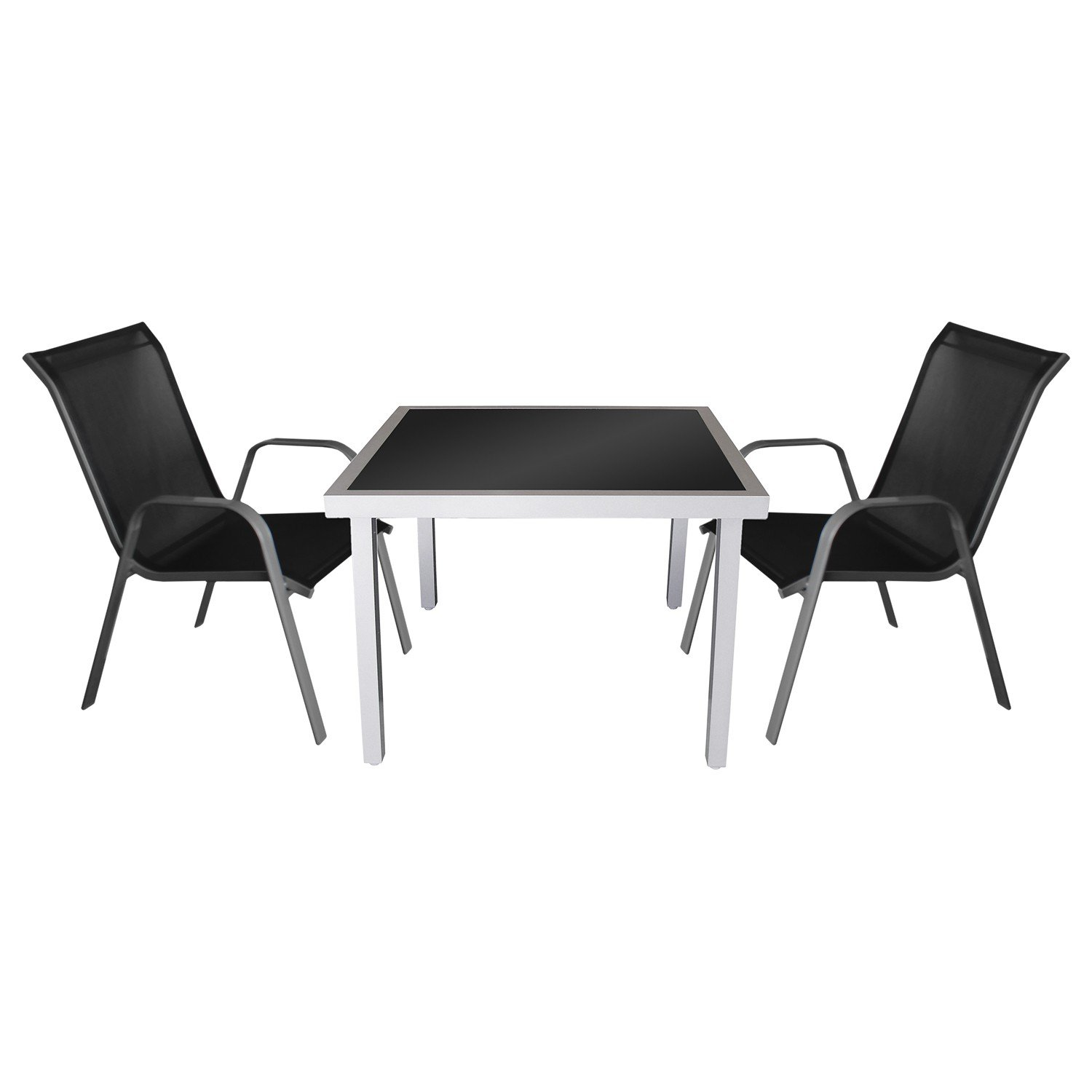 3tlg gartengarnitur balkonm bel bistro set sitzgruppe. Black Bedroom Furniture Sets. Home Design Ideas