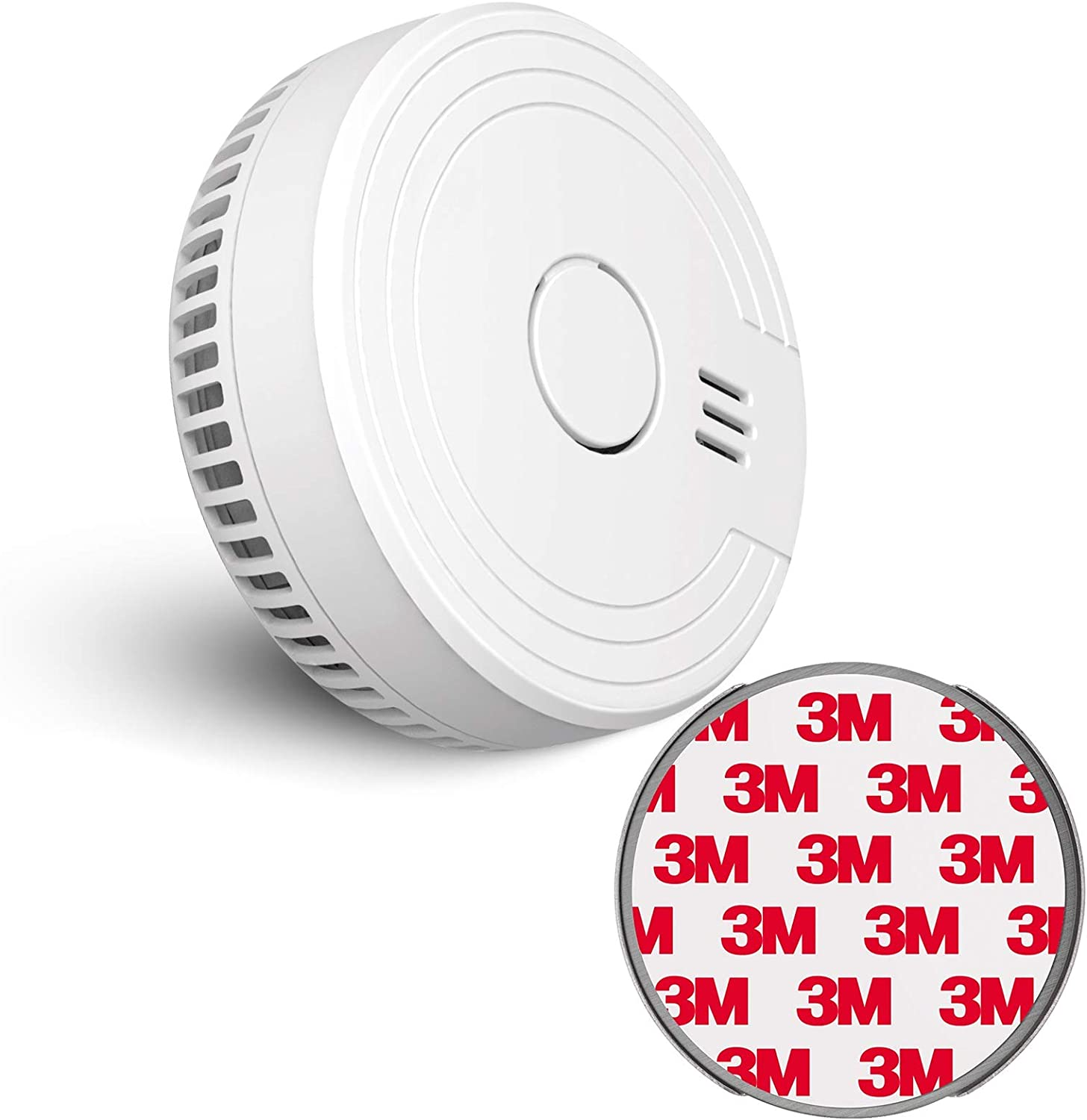 Ecoey Smoke Detector, Smoke Alarm (Battery Include) with Photoelectric Technology, Fire Detector with Test Button and Low Battery Signal, Fire Alarm for House, FJ136GB, 1 Pack