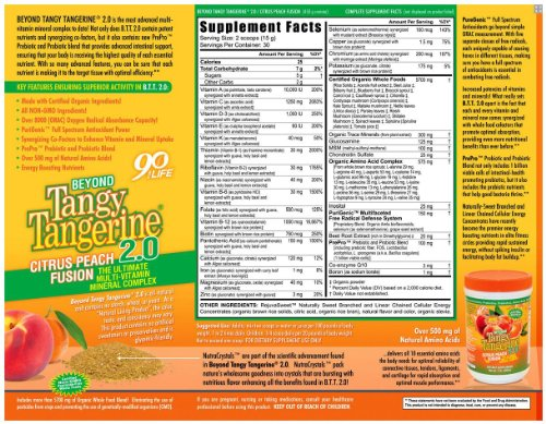 Beyond Tangy Tangerine 2 0 Citrus Peach Infusion Canister 3-Pack by  Youngevity