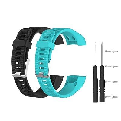 Bracelet de Remplacement pour Garmin Vivosmart HR+, Meiruo Bracelet pour Garmin Vivosmart HR PLUS