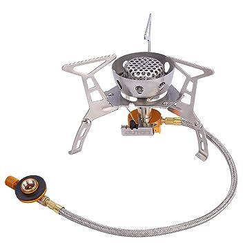 OUTON - Hornillo de gas para camping, portátil, butano/propano,