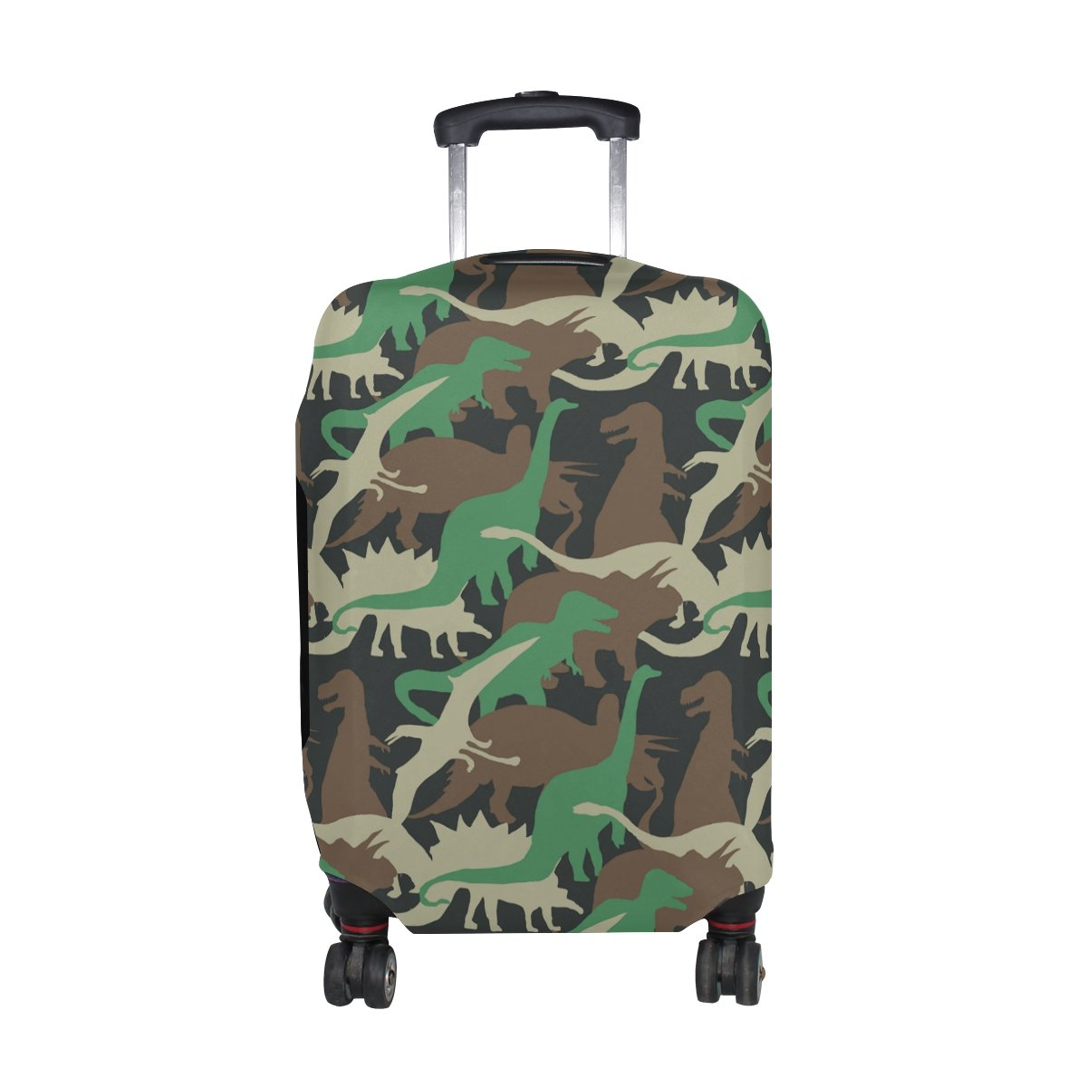 Cute Cartoon Dinosaur Pattern Print Luggage Cover Travel Suitcase Protector Fits 23-26 Inch Luggage