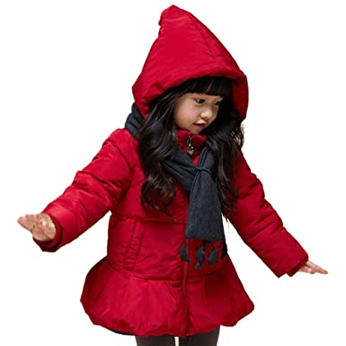 Down & Parkas Girls Simple Winter Down Hooded Jacket