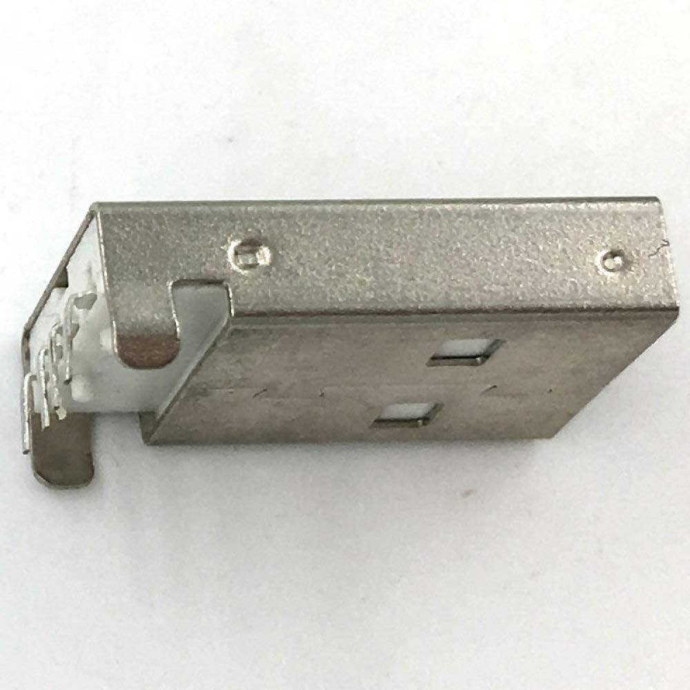 WQDWF Connector 100pcs//lot White USB A Male USB Plug USB Plug Curved Needle Plate
