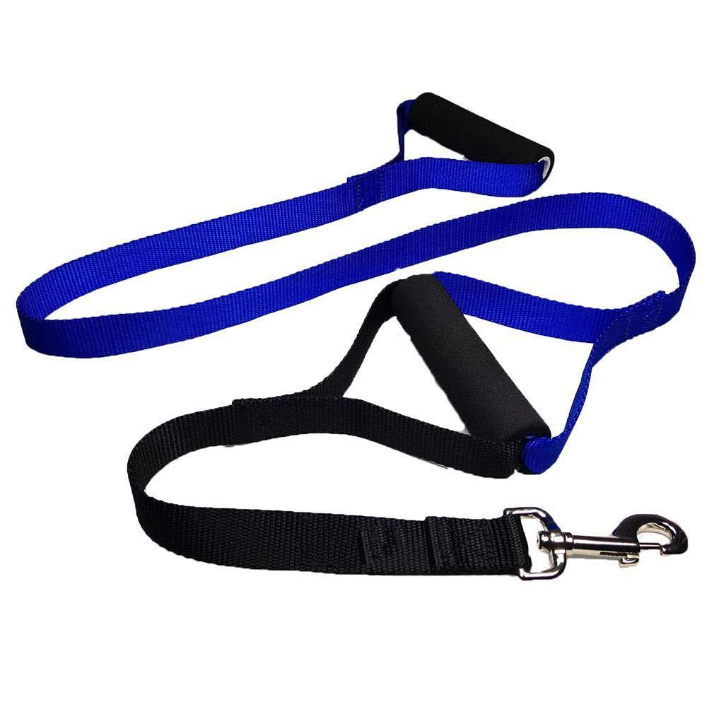 Hjyi Pet Comfort PVC Traction Nylon Double Handle Traction Belt Training Rope