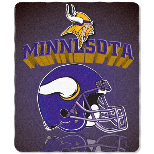 Nfl Fleece Blanket Team Football (Minnesota Vikings 50x60 Grid Iron Fleece Throw)