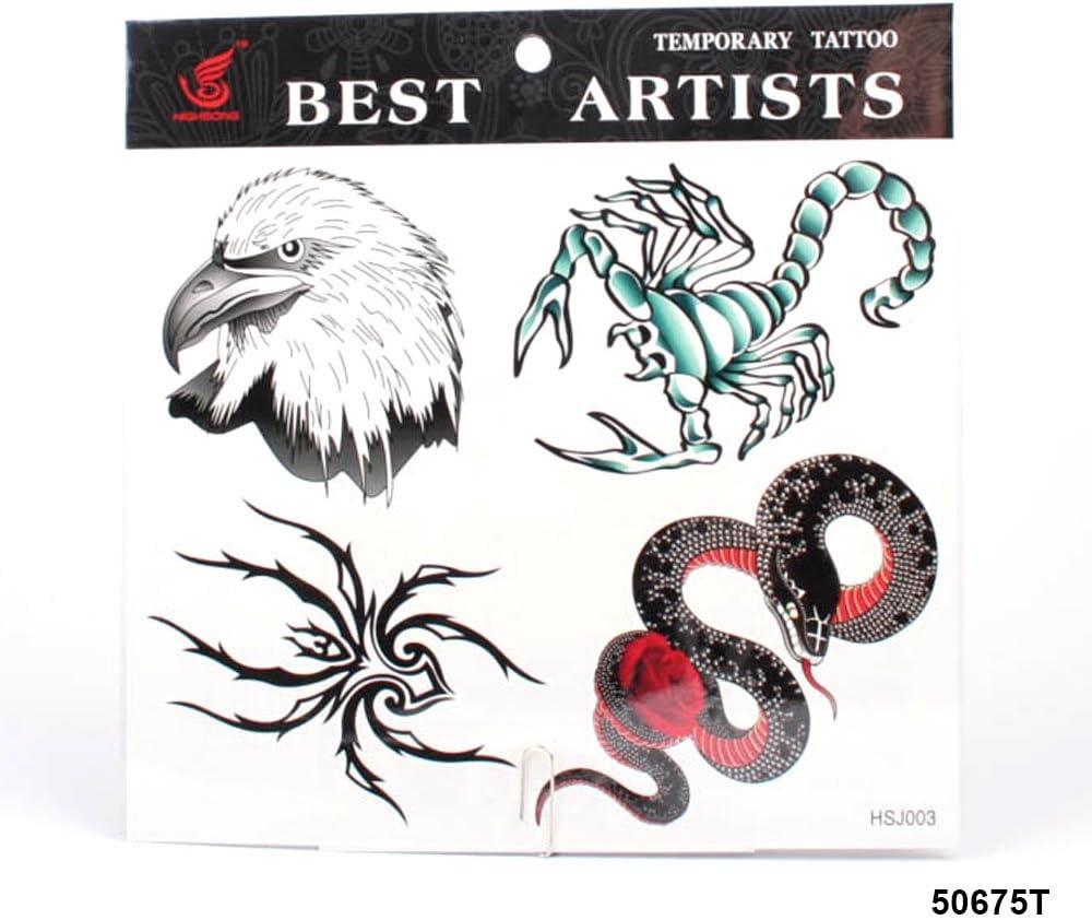 grandes tatuajes Águila cabeza, Araña, serpiente y Escorpión ...