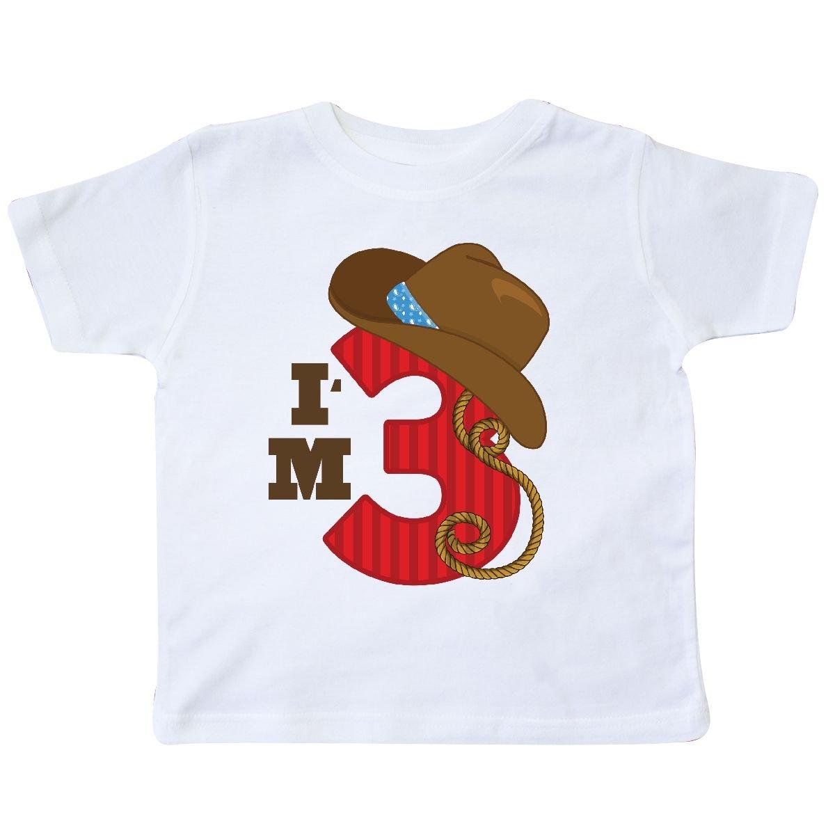 inktastic Cowboy 3rd Birthday Im 3 Toddler T-Shirt