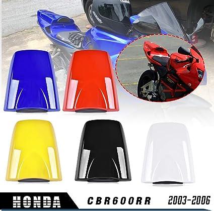 Motocicleta CBR 600RR Cubierta del asiento trasero del cap/ó ABS Pl/ásticos para Honda CBR600RR CBR 600 RR 2003 2004 2005 2006 Azul