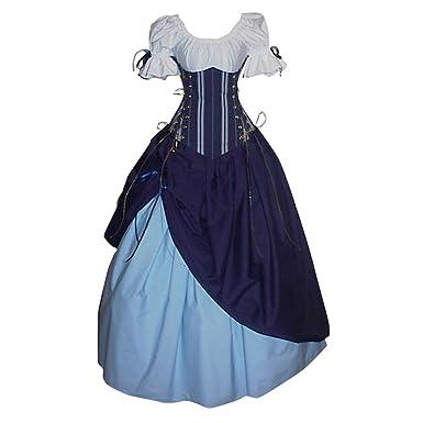 Cosplayitem Damen Mittelalterlichen Kleid Gothic Viktorianischen ...
