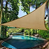 XGZ Sun Shade Canopy, Triangle Waterproof Sun Protection Canopy Collapsible and portable Outdoor Tent Patio Pool Shade shelter Sail Awning Camping Picnic Tent (33m, Sand Yellow)
