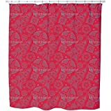 Uneekee Henna Rosso Shower Curtain: Large Waterproof Luxurious Bathroom Design Woven Fabric