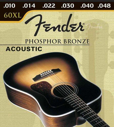 Fender cuerdas para guitarra acústica bronce fósforo - 10-48: Amazon.es: Instrumentos musicales