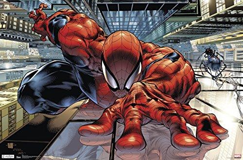 "Trends International 24x36 Spider-Man-Wall Crawler Premium Poster, 22.375"" x 34"""
