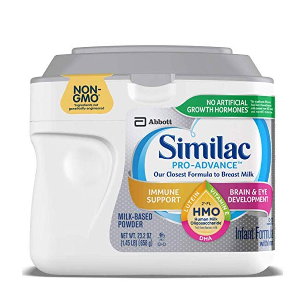 Similac Pro-Advance Non-GMO Infant Formula with Iron, with 2'-FL HMO, for Immune Support, Baby Formula, Powder, 23.2 oz (2 Pack)