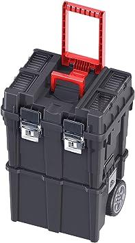 CAJA de HERRAMIENTAS Vacía con Ruedas Plástico 35x45x64cm Compact HD Desmontable Policarbonato + Bandeja interior: Amazon.es: Bricolaje y herramientas