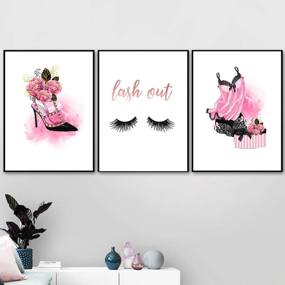 Zhouba Peinture murale moderne pour salon chaussures /à talons cils pyjama peinture art d/écoration chambre poster cadeau 1 1