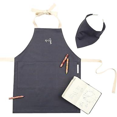 6187f659e Bo&sis Personalized Initial Apron, Junior/Kids Apron, Oxford (Embroidered)  (Junior