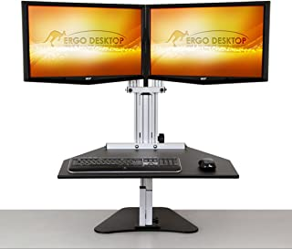 product image for ERGO DESKTOP Kangaroo Elite- Black- Height Adjustable Standing Desk (Black)