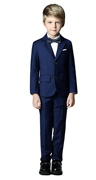 3af2866d2 Ommda Trajes de Niño para Boda Ceremonia Graduación Elegantes Slim Fit 3-12  Años  Amazon.es  Ropa y accesorios