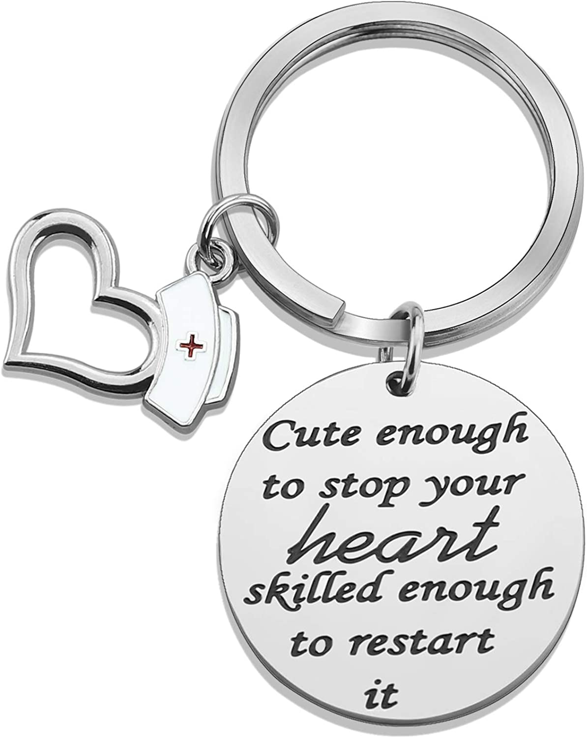 Keychain Personalized with Charm of your choice Childrens Names Medical Alert Info Nursing Gift Graduation Gift Party favor for boys