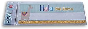 Student Classroom Name Plates - 30 Count (Hola Me Llamo)