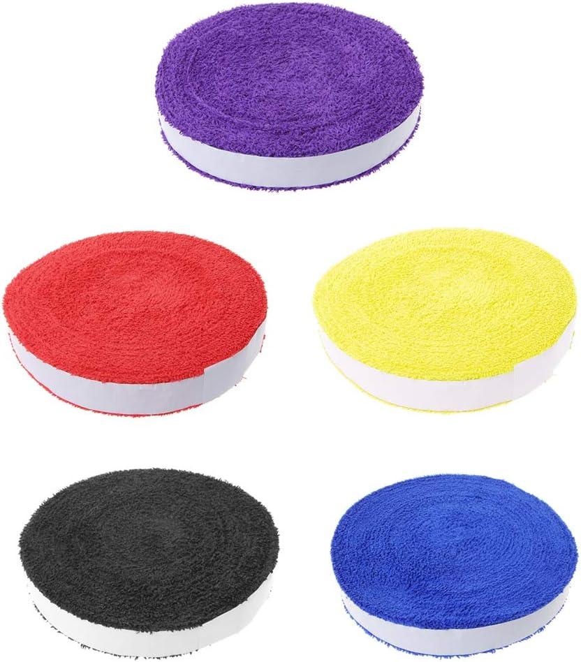 Fanct 1 Reel 10M Towel Glue Grip Tennis Badminton Racket Overgrips Anti-Skid Grip Tape Fishing Rod Sweat Band