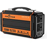 Rockpals ポータブル電源 正弦波 大容量 64800mAh/240Wh 250W 小型発電機 三つの充電方法 ソーラー充電