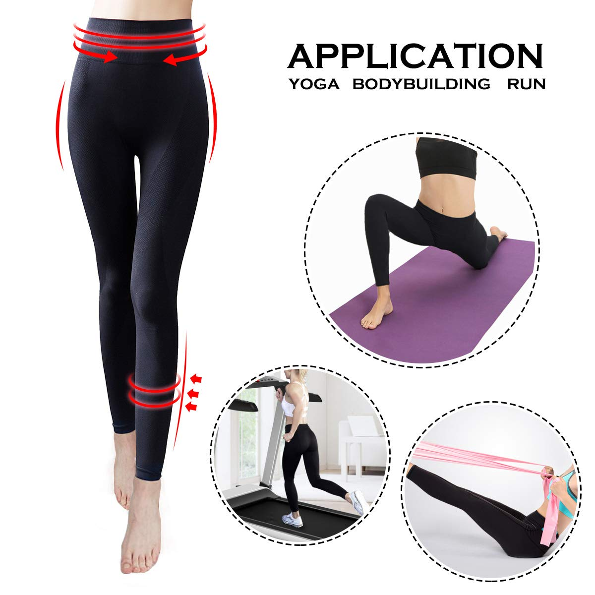 Cayanmydery Soft High Waist Yoga Pants Tummy Control Workout Running 4 Way Stretch Yoga Leggings