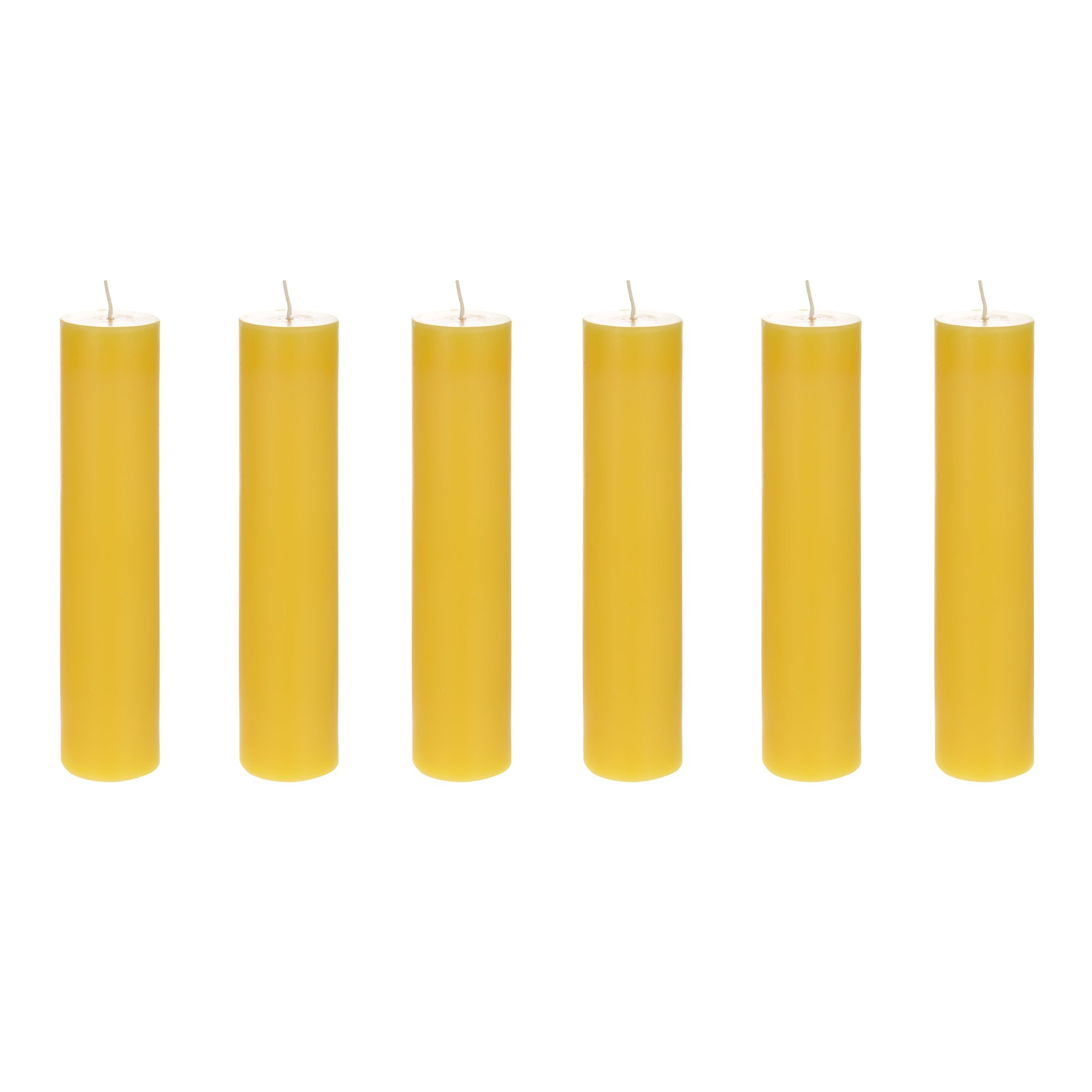 Mega Candles 6 pcs Citronella Round Pillar Candle | Hand Poured Paraffin Wax Candles 2'' x 9'' | Bug Repellent Candles For Indoor And Outdoor Use | Everyday Candles For Mosquitoes And Insects