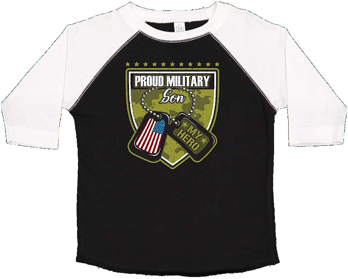 inktastic Proud Military Son Boys Camo Flag Outfit Toddler T-Shirt