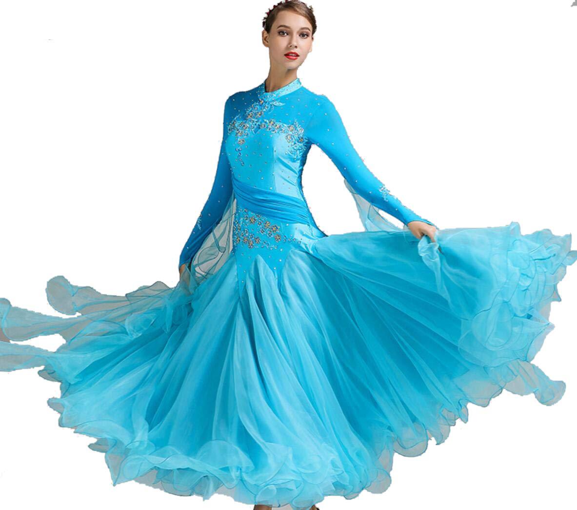 A XL SMACO Femmes Modernes Valse Tango Danse VêteHommests Standard Robes de Concours de Danse de Salon