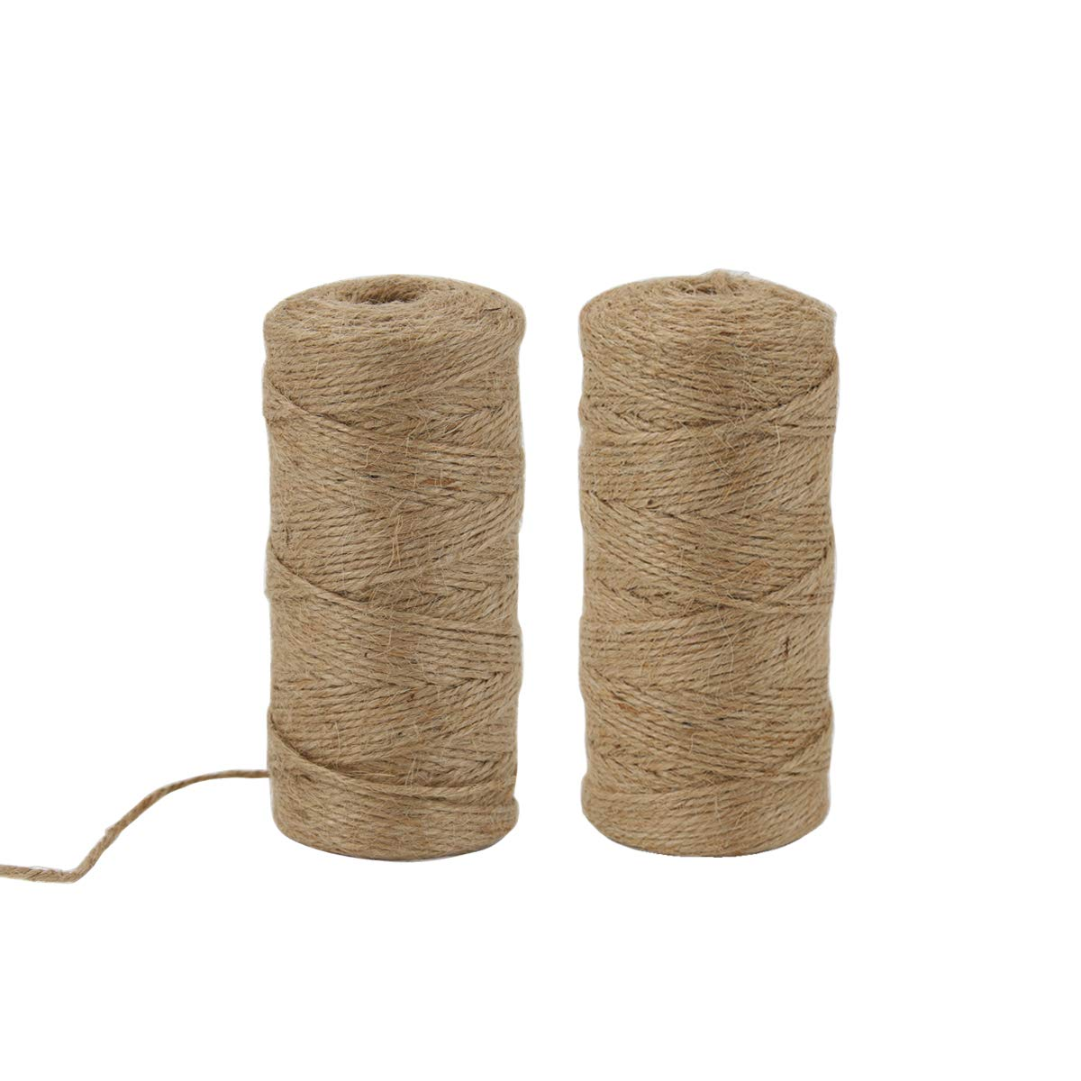IBRAVEBOX Jute Twine String 2mm 328 Feet/2 Rolls 3 Ply Brown Durable Twine Perfect for Tags Tie, Homemade Art, DIY Crafts