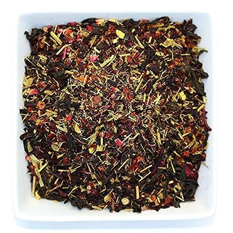 Tealyra - Tropical Zest Oolong - Fruity Blend - Wu Yi Oolong - Hibiscus - Lemongrass - Loose Leaf Tea - Antioxidants Rich - Low Caffeine - 110g (4-ounce)