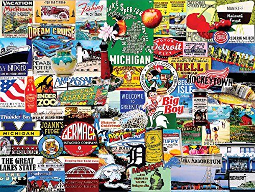 White Mountain Puzzles Michigan Collage Jigsaw Puzzle (1000 Piece)