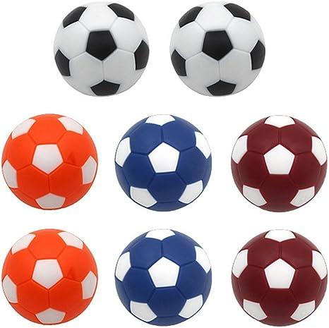 Early Buy Principios de Comprar Colorido Pelotas de fútbol Foosballs reemplazos 36 mm Pelotas de Mini fútbol futbolín de Mesa Conjunto de 8: Amazon.es: Deportes y aire libre