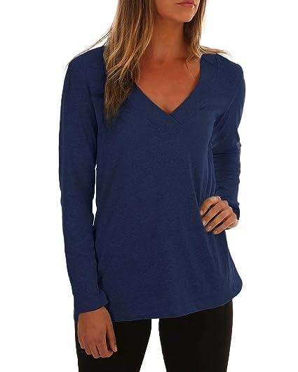 ACHIOOWA Donna Maglietta Maglie Manica Lunga Bluse Top Spalle Scoperte Elegante  Casual Moda  Amazon.it  Abbigliamento d1a25d78a9d