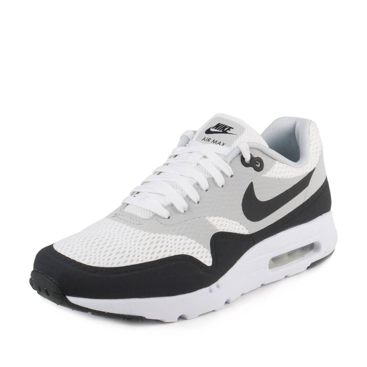 Nike Mens Air Max 1 Ultra Essential WhitePure PlatinumAnthracite 819476 100 8.5